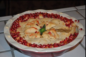 Pomegranate apple pie