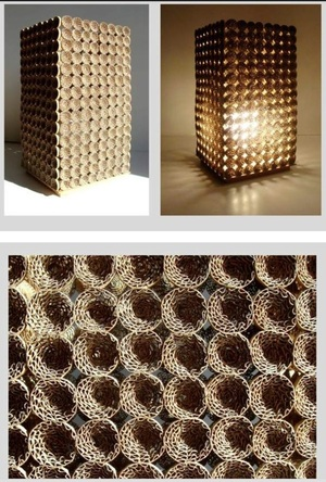 Eco lamp made from 480 rolled cardboard strips - on @Behance