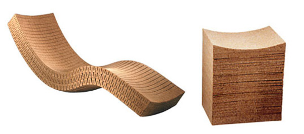beautifully designed ergonomic recycled cork furniture
