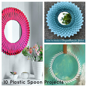 inspiration for recycle plastic spoons