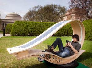 SOFT Rocker is a solar powered outdoor rocking lounge