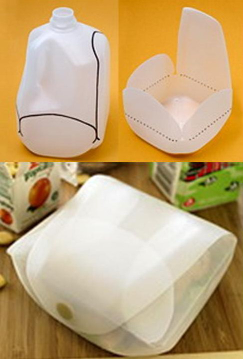 Sandwich Container made from Milk Bottles