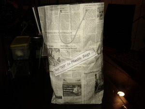Newspaper bags!