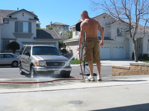 car wash or driveway wash