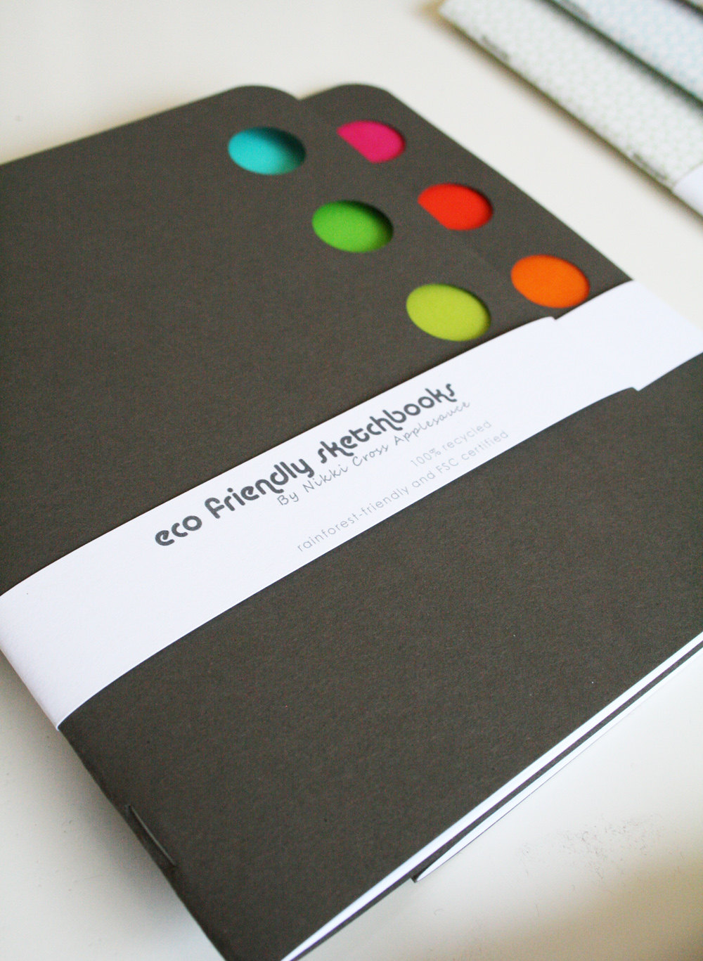 Eco Friendly Sketchbook with vibrant vellum accents