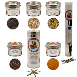 Ultimate Fairtrade & Organic Spice Collection (Small Tin Size)