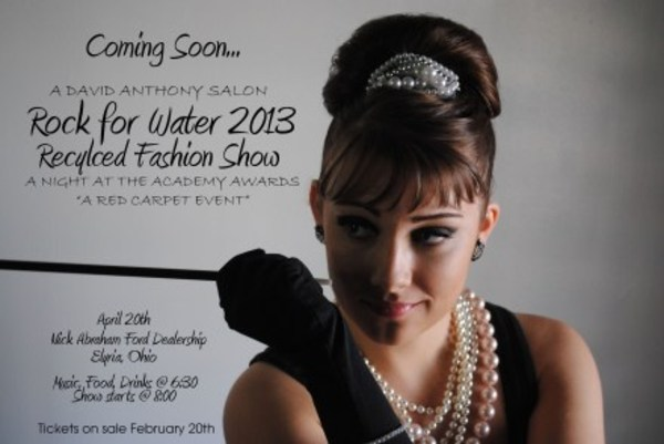 Event 3rd annual rock for water recycled fashion show for A david anthony salon lorain