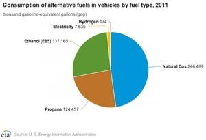 Alternative Transport Fuel Use Jumps 13%
