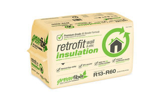 GreenFiber Insulation - non-toxic natural made from 85% recycled paper fiber