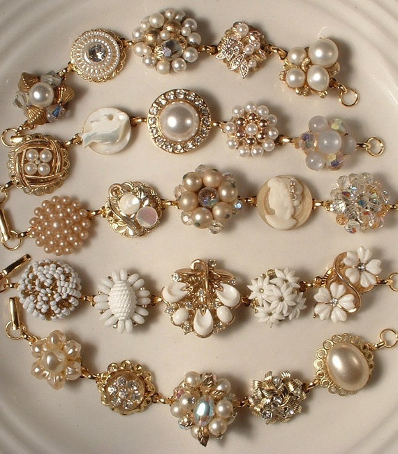 Vintage Costume Jewelry: Upcycled & Repurposed via Dishfunctional Designs