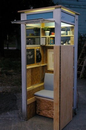 Ten Repurposed Phone Booths - 1-800-RECYCLING