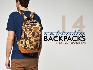 Make a Fashion statement with these Eco-Friendly Backpacks