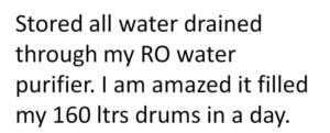 Save RO purifier drainage.