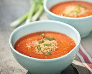 Meatless monday- Grilled Tomato Gazpacho