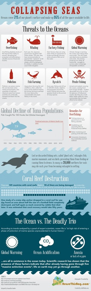 Collapsing Seas - Threats to the Ocean [Infographic] | oBiz Media