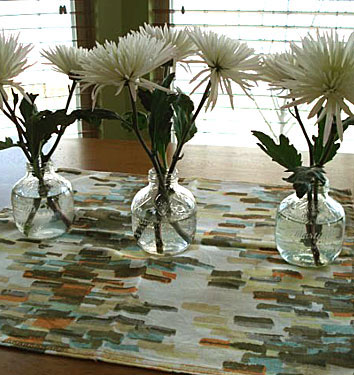Apple juice bottle vases