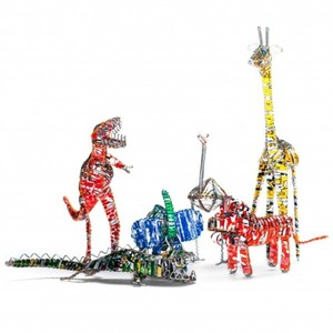 Eco-fair trade toys - creatively recycled soda can animals