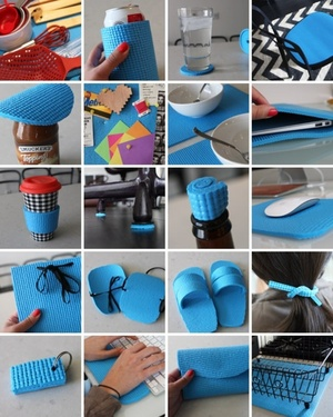20 Creative Ways To Repurpose Old Yoga Mats via @brit