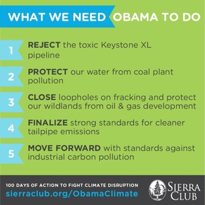 Demand for #climate action from the president via @sierraclub
