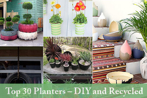 Beautiful Planters Made Of Recycled Materials