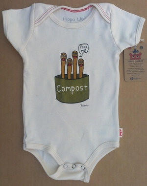 Hippo Works Organic Baby Bodysuit