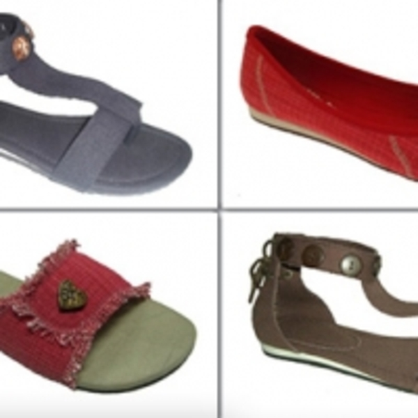 Eco-friendly, vegan sandals, flats, and shoes from Colourful Grass Footwear