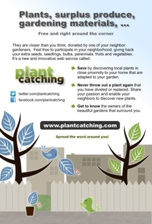 Exchange, donate your gardening surplus using this site.