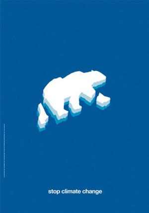Stop Climate Change - poster via designersgotoheaven