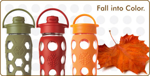 Cool reusable glass bottles for adults and babies.