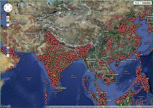 Counting CO2 all over the world using crowd sourcing
