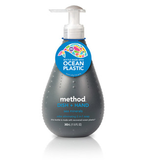 Method soaps - biodegradable liquid; packaging made from 'ocean-plastic' - NICE!