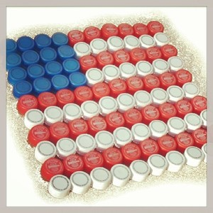 Transform #SodaCaps into #Stars and #Stripes this #MemorialDay! #DIY #Upcycled