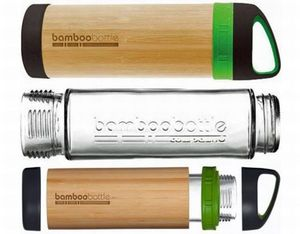 Bottles made from glass, bamboo - ideal for hot cold drinks and #sustainable