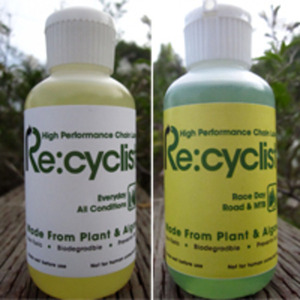 Plant based, biodegradable bicycle lubricants.