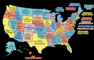 United States of the Environment - Best & Worst of all 50 states