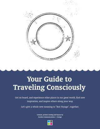 Your Guide toTraveling Consciously