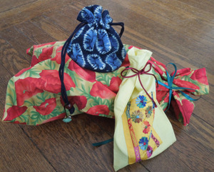 Forget Wrapping Paper, Try Cloth Bags!