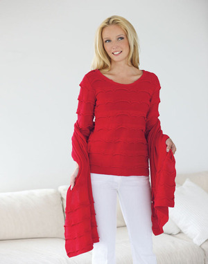 Ruffled Certified Organic Cotton Sweater
