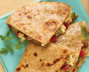 Tofu & Cheese Quesadilla - #organic #meatlessmonday