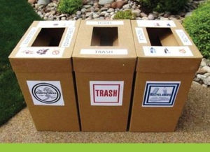 Recycle, Compost & Trash Bins for the Party