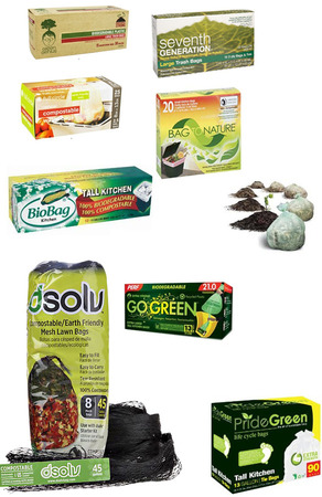 Biodegradable, compostable trash bags - must for a green home