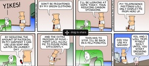 Green Clothing - Dilbert style!