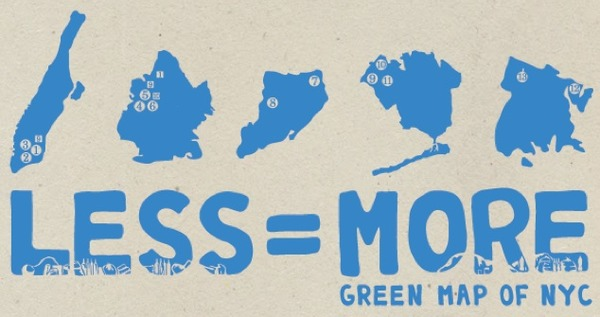 Less is More Green Map of NYC Debuts