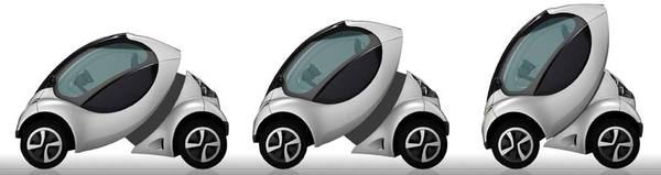 100% electric, urban mobility vehicle which can park in tightest of spaces.