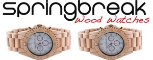SpringBreak Wood Watches