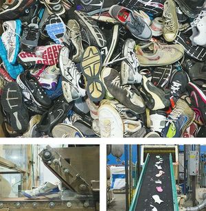 Nike Reuse-a-Shoe takes worn out athletic shoes to create sports surfaces!