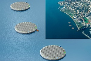 Three floating solar islands to launch on Swiss lake this year