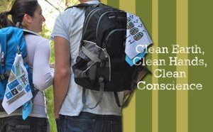 Personal reusable hand towels reduce paper towel use - reduce waste, save trees