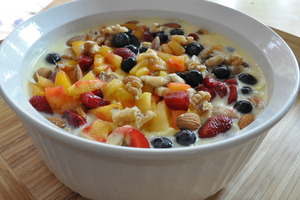 Fruit Salad with Custard