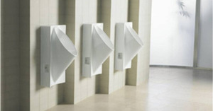 Waterless urinals can save millions of gallons of water used in public restrooms every yr